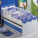 Описание: b детская кроватка бело-бордового цвета geoby tly632 b